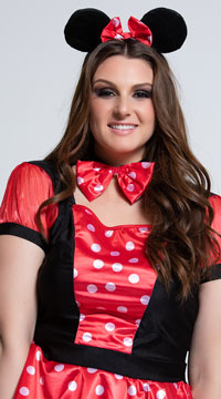 Plus Size Polka Dot Mouse Costume