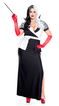 Plus Size Cruel Villain Costume