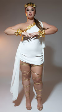 Plus Size Goddess Beauty Costume - as shown