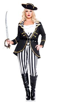 Plus Size High Seas Captain Costume