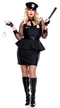 Plus Size Corrections Officer Costume