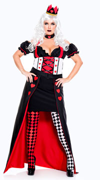 Plus Size Enchanting Royal Heart Queen Costume