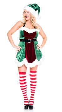 Plus Size North Pole Elf Costume