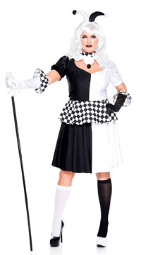 Plus Size Wicked Jester Costume
