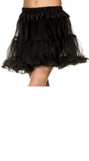 Double Layer Mesh Petticoat - Black