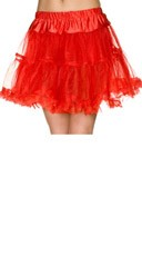 Double Layer Mesh Petticoat - Red