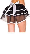 Burlesque Layered Petticoat - Black/White
