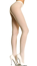 Plus Size Opaque Tights - White