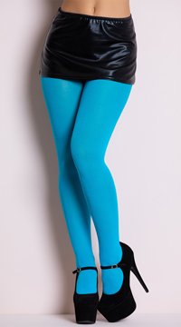 Opaque Tights - Turquoise