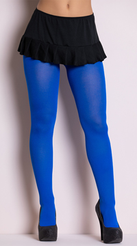 Opaque Tights - Royal Blue