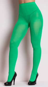 Opaque Tights - Kelly Green