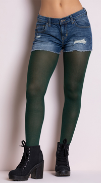Opaque Tights - Hunter Green