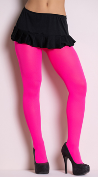 Opaque Tights - Neon Pink