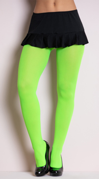 Opaque Tights - Neon Green