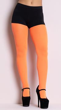 Opaque Tights - Neon Orange
