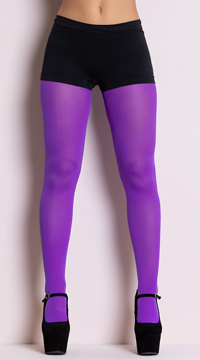 Opaque Tights - Purple