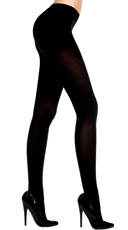 Plus Size Opaque Tights - Coffee