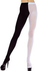 Plus Size Queen Size Multicolored Tights - Black/White