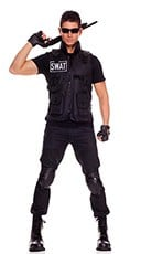 SWAT Commander Mens Costume - Black
