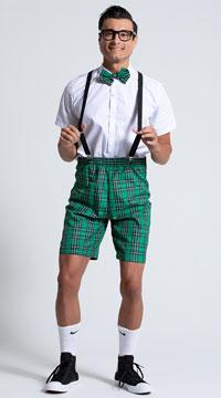 Men's Classroom Nerd Costume - White/Green