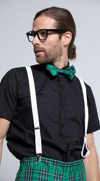 Men's Classroom Nerd Costume - Black/Green