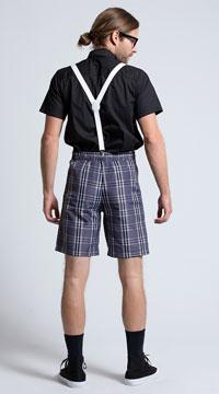 Men's Classroom Nerd Costume - Black/Grey