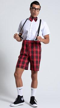 Men's Classroom Nerd Costume - White/Red
