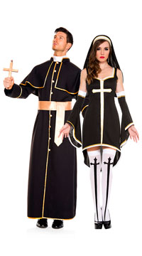Sinfully Hot Nun Costume - as shown
