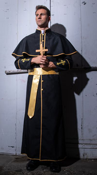 Men's Deluxe Priest Costume - as shown