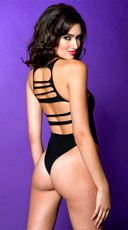 Strappy Back Teddy - Black