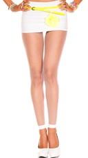 Spandex Fishnet Leggings - White