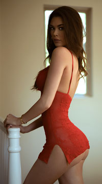 Love Struck Lace Chemise Set - Red