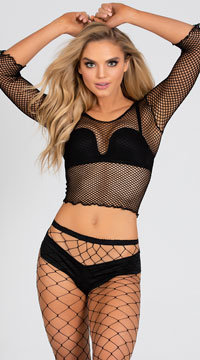 Spandex Net Shirt - Black