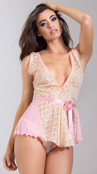 Loving Pink Babydoll Set - Pink