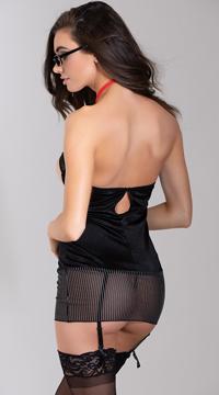 Gal Friday Lingerie Costume - Black