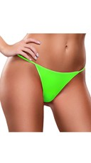 Plus Size Basic Neon G-String - Lime