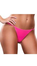 Plus Size Basic Neon G-String - Pink