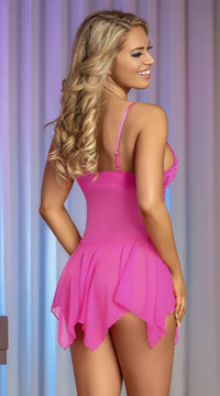 Pretty In Pink Babydoll Set - Pink