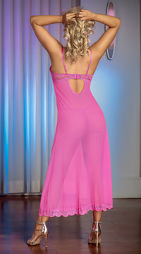 Pretty In Pink Gown Set - Pink