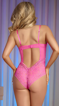 Plus Size Pretty In Pink Teddy - Pink