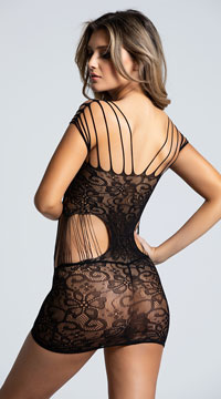 Seamless Strappy Lace Chemise - Multi