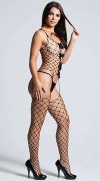 Fishnet Fantasies Bodystocking - Black