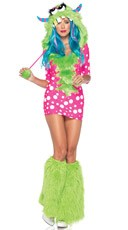 Melody Monster Costume - Pink/Green