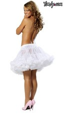 Mid Length Petticoat - White