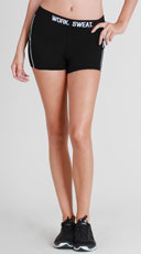 Printed Athletic Shorts - Black