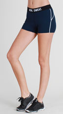 Printed Athletic Shorts - Denim