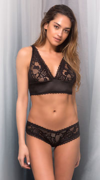Yvette Lace Boyshort - Black