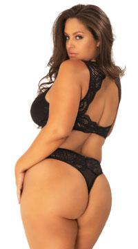 Plus Size Stephanie Lace Bralette - as shown
