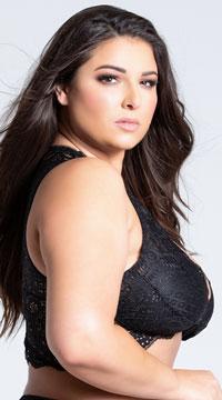 Plus Size Stephanie Lace Bralette - Black