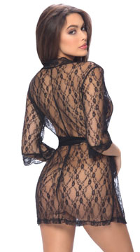 Pretty Scalloped Lace Robe - as shown